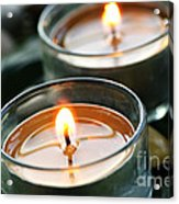 Two Candles Acrylic Print by Elena Elisseeva