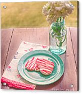 Two Hearts Picnic Acrylic Print by Kay Pickens
