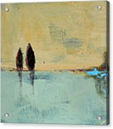 Two Lovers On The Line Acrylic Print by Jacquie Gouveia