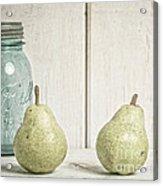 Two Pear Still Life Acrylic Print by Edward Fielding