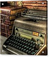Typewriter Acrylic Print by David Morefield