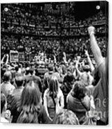 U2-crowd-gp13 Acrylic Print by Timothy Bischoff