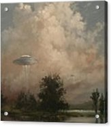 Ufo's - A Scouting Party Acrylic Print by Tom Shropshire