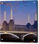 Uk, England, View Of Battersea Power Acrylic Print by Dosfotos