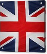 Uk Flag Acrylic Print by Les Cunliffe
