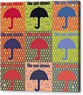 Umbrella In Pop Art Style Acrylic Print by Toppart Sweden