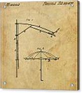 Umbrella Patent - A.b. Caldwell Acrylic Print by Pablo Franchi
