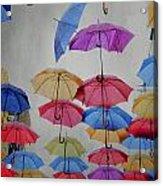 Umbrellas Acrylic Print by Jelena Jovanovic