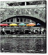 Umbrellas Of Many Colors Acrylic Print by John Kain