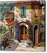 Un Cielo Verdolino Acrylic Print by Guido Borelli