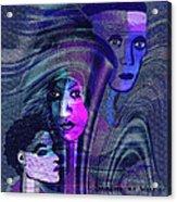 Una Madonna Arrabbiata - 315   Acrylic Print by Irmgard Schoendorf Welch