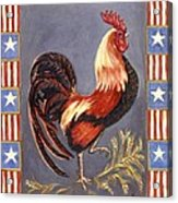 Uncle Sam The Rooster Acrylic Print by Linda Mears