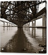 Under Bridges Acrylic Print by Donna Blackhall
