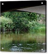 Under The Bridge Acrylic Print by Ernie Echols
