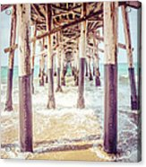 Under The Pier In Southern California Picture Acrylic Print by Paul Velgos