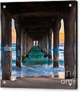 Under The Pier Acrylic Print by Inge Johnsson