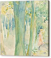 Under The Trees In The Wood Acrylic Print by Berthe Morisot