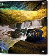 Underground Waterfall 2 Acrylic Print by Mark Papke