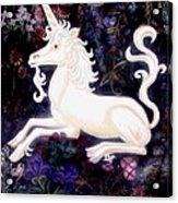 Unicorn Floral Acrylic Print by Genevieve Esson