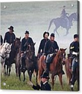Union Cavalry On The March - Perryville Ky Acrylic Print by Thia Stover
