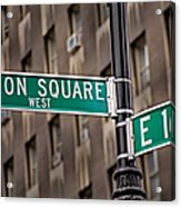 Union Square West I Acrylic Print by Susan Candelario