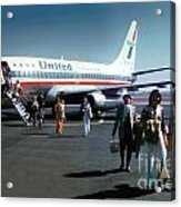 United Airlines Ual Boeing 737-222 N9069u April 1974 Acrylic Print by Wernher Krutein