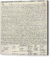 United States Bill Of Rights Acrylic Print by Charles Beeler