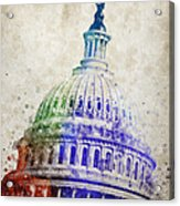 United States Capitol Dome Acrylic Print by Aged Pixel