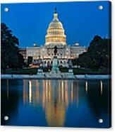 United States Capitol Acrylic Print by Steve Gadomski