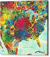 United States Map Acrylic Print by Gary Grayson