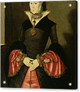 Unknown Lady From The Court Of King Acrylic Print by Hans Eworth or Ewoutsz