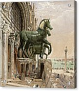 Upper Portion Of The Facade Of St Acrylic Print by William Bell Scott