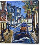 Urban Avenue By Prankearts Acrylic Print by Richard T Pranke