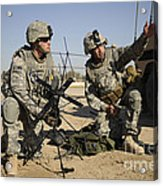 U.s. Army Soldiers Setting Acrylic Print by Stocktrek Images