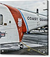 Us Coast Guard Helicopter Acrylic Print by Paul Ward