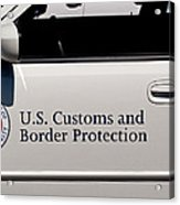 U.s. Customs And Border Protection Acrylic Print by Tikvah's Hope