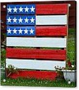 Usa Flag Acrylic Print by Kim Stafford