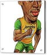 Usain Bolt Acrylic Print by Art