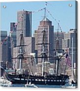 Uss Constitution Acrylic Print by Catherine Gagne
