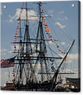 Uss Constitution Acrylic Print by Mike Ste Marie