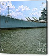 Uss New Jersey Acrylic Print by Olivier Le Queinec