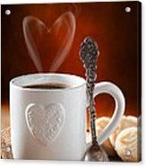 Valentine's Day Coffee Acrylic Print by Amanda Elwell