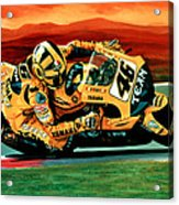 Valentino Rossi The Doctor Acrylic Print by Paul Meijering