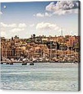 Port Of Valleta Acrylic Print by Maria Coulson
