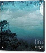 Valley Under Moonlight Acrylic Print by Bedros Awak