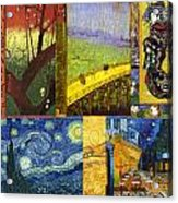 Van Gogh Collage Acrylic Print by Philip Ralley