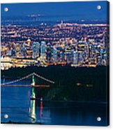 Vancouver From Cypress Mountain Acrylic Print by Alexis Birkill