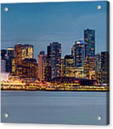 Vancouver From Lonsdale Quay Acrylic Print by Alexis Birkill