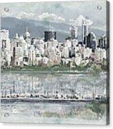 Vancouver Skyline Acrylic Print by Maryam Mughal
