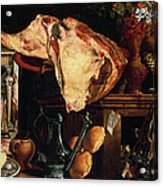 Vanitas Still Life Acrylic Print by Pieter Aertsen